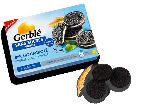 biscuit cacaot fourr saveur vanille gamme sans sucres sans sucres ajout s gerbl. Black Bedroom Furniture Sets. Home Design Ideas